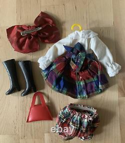 Mab Graves OOAK Handmade Blythe Doll Complete Outfit Top Skirt Boots Bow Unused