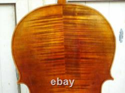 Master 4/4 Cello European tone wood maple back old spruce top very nice sound