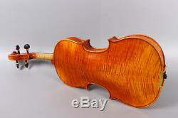 Master Violin 4/4 Flame maple hand Made Sweet Sound With Case Bow Violin parts