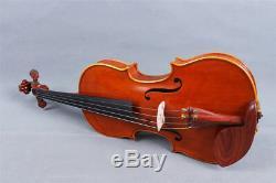 Master Violin 4/4 Tiger Flame Maple Handmade Stradivari Violin Case Bow #401