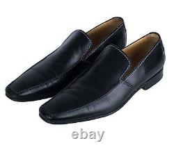 Men Black Leather Shoes Moccasins Men Black Formal Shoes Men leather dress Shoes