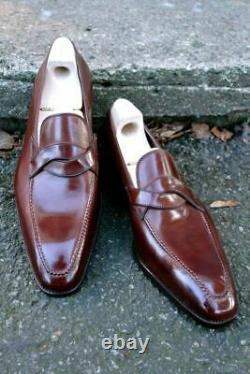 Mens Dark burgundy Leather Dress Shoes, Burgundy Leather Moccasin for mens