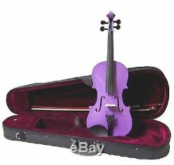 Merano VA100-PU Purple Handmade Viola withCase & Bow ANY SIZE 16.5 to 10
