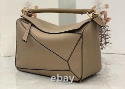 Mini Puzzle Bag Fashion Puzzle Caramel Color Real Leather Genuine Shoulder Bag