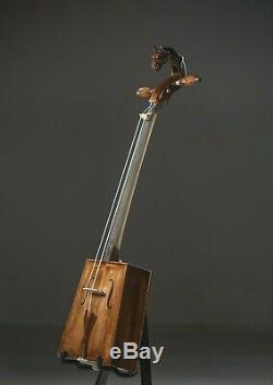 Mongolian Handmade Morin Khuur /Huur/ with Bow, Horse Head Fiddle, Free Shipping