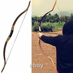 Mongolian Recurve Bow Traditional Handmade Longbow 35-55lbs Archery Wooden