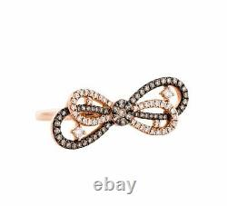 Mother's Day Sale 14k Rose Gold Bow Design Diamond Engagement Ring Jewelry