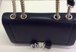NEW Salvatore Ferragamo Vara Bow Handbag Navy FZ-27G878