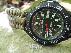 NEW! Timex Expedition Military Style Watch with Handmade Paracord 550 Watch Band