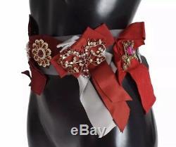 NWT $2800 DOLCE & GABBANA Belt Waist Crystal Brooches Hand Made IT40/ US6 / S