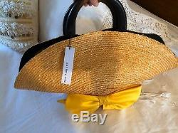 NWT $498 SOLD OUT Anthropologie Eugenia Kim Handmade FLAVIA BOW Blue Straw Tote