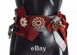 NWT DOLCE & GABBANA Belt Waist Crystal Brooches Hand Made IT40/ US6 / S