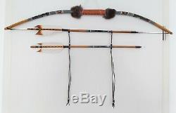 Native American Bow & Arrow Set Navajo Handmade Wall Decoration 36,5/93cm