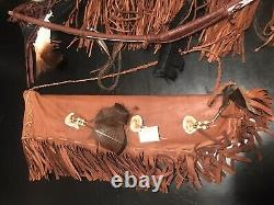 Native American HANDMADE Antiqued Navajo Bow 44, Quiver 24 & Rifle Case 57