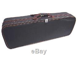 New 15.5 Viola Antique Style Hand-made Flamed Back+Bow+Square Case # VA008
