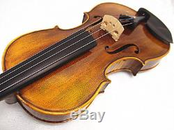 New 15.5 Viola Antique Style Hand-made Flamed Back+Bow+Square Case # VA010