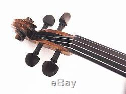 New 16 Viola Antique Hand-made One piece Flamed Back+Bow+Square Case # VA007