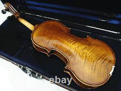 New 16 Viola Antique Style Hand-made Flamed Back+Bow+Square Case # VA98