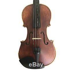 New 4/4 Hand-Made Antique Flame Back Violin+Bow+Rosin+Case+String #AQE03