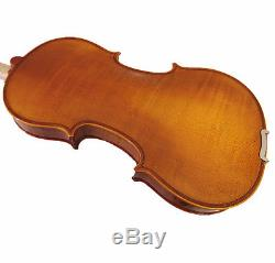 New 4/4 Hand-Made One Piece Flamed Back Violin+Bow+Rosin+Square Case+String #A05