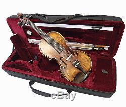 New Antique Style 1/2 Hand-Made Violin +Bow +Rosin +Square Case