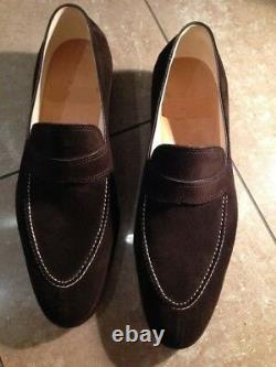 New Handmade Men brown suede Moccasins, Men suede leather shoes, Shoes for men
