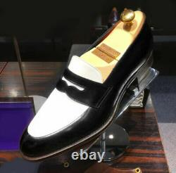 New Men two tone spectator Shoes, Men black and white leather dress oxford shoes