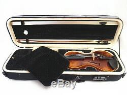 Nice 4/4 Hand-Made Gourd shaped Violin +Bow +Rosin + Moon Shape Case #AQ552