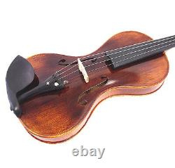 Nice sound 4/4 Hand-Made gourd shaped Violin +Bow +Rosin + Square Case #G1