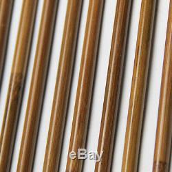 OD7mm Archery Bamboo Arrow Shaft Self Nock Handmade Bow DIY 33/ 84cm