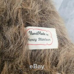 OOAK Mohair Bear Vintage Handmade Artist bear Nancy Morrison 18 Glasses and Bow