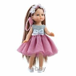 Paola Reina Luxury Doll Judith in Pink Dress w Bow 8in/21cm Toy for Girls