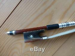 Pernambuco Violin Bow, Quality Hand Made, Full Size, Ox Horn Frog, Uk Seller