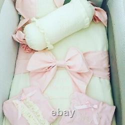 Pink Bow Princess Baby Girl COT bedding Set