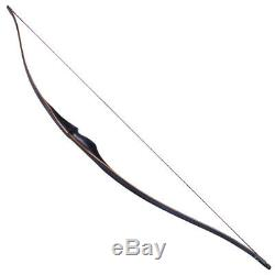 Practice Handmade 30-45lbs 60'' Traditional Archery Recurve Bow Longbow Hunting