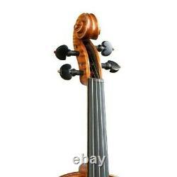 Pro Violin 4/4 Stradivari Hand-made from 1 Piece Back + Bow + Case #15