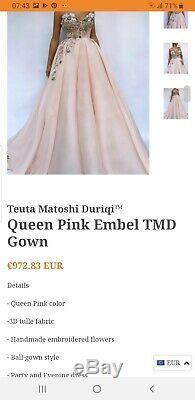 Prom dress, queen pink teuta matoshi dress, occasion, long dress