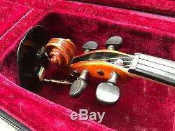 R. A. Seidel Handmade Copy A. Stradivarius 3/4 Violin 1987 Germany Case No Bow