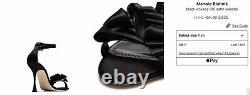 RRP £625 Manolo Blahnik with RECEIPT Black Vinkaos satin sandals size 38/5UK
