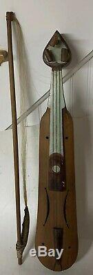 Rare Early Handmade Lyra Lira Bowed String Italian Greek Instrument