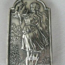 Rare Henryk Winograd HW999 Sterling Silver Bow Hunting Lady Pendant Heavy