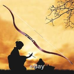 Red 50lbs 56 Archery Handmade Traditional Recurve Bow Longbow Laminated Bow
