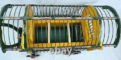 Romany Gypsy Wagon Bird Cage Handmade Wooden Caravan Bow Top Barrel Mule Finch
