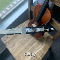 Roth E. R. Pfretzschner 4/4 M#301 Violin bow Hard Case 1973 handmade StudStrat Rep