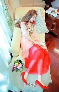 Runway Pink Bow sequins Tiered long maxi colorblock DressPlus Size(32-34)5XG767
