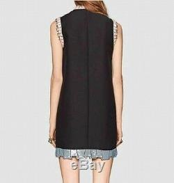 Runway Trendy Sequin bow tunic shift sleeveless party dress Size(12-14)0X G765