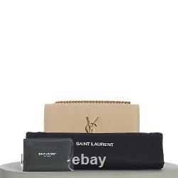 SAINT LAURENT 1750$ Small YSL Kate Chain Bag In Powder Grain De Poudre Leather