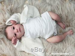SKYA AWAKE Realborn Reborn full limbs, glass eyes, magnetic dummy + bow