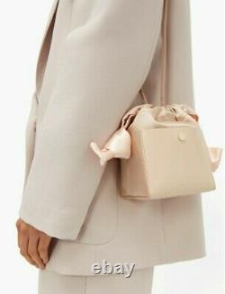 SOPHIE HULME Nano Knot Leather & Satin Bucket Bag RRP $1,000 Limited Edition