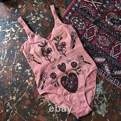 Serpent And Bow Lovespell Leotard Size Large Slow Fashion Handmade Herbal Dyed